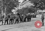Image of WWI American soldiers at a funeral France, 1918, second 38 stock footage video 65675042397