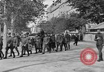 Image of WWI American soldiers at a funeral France, 1918, second 39 stock footage video 65675042397