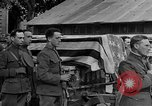 Image of WWI American soldiers at a funeral France, 1918, second 51 stock footage video 65675042397