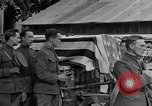 Image of WWI American soldiers at a funeral France, 1918, second 52 stock footage video 65675042397