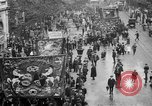 Image of Trade unionists protest high food prices during World War I London England United Kingdom, 1916, second 16 stock footage video 65675042461