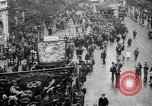 Image of Trade unionists protest high food prices during World War I London England United Kingdom, 1916, second 19 stock footage video 65675042461