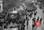 Image of Trade unionists protest high food prices during World War I London England United Kingdom, 1916, second 24 stock footage video 65675042461