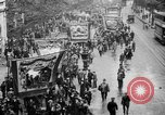 Image of Trade unionists protest high food prices during World War I London England United Kingdom, 1916, second 28 stock footage video 65675042461