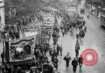 Image of Trade unionists protest high food prices during World War I London England United Kingdom, 1916, second 29 stock footage video 65675042461