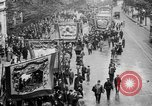 Image of Trade unionists protest high food prices during World War I London England United Kingdom, 1916, second 30 stock footage video 65675042461