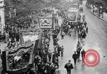 Image of Trade unionists protest high food prices during World War I London England United Kingdom, 1916, second 31 stock footage video 65675042461