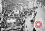 Image of Trade unionists protest high food prices during World War I London England United Kingdom, 1916, second 36 stock footage video 65675042461