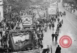 Image of Trade unionists protest high food prices during World War I London England United Kingdom, 1916, second 37 stock footage video 65675042461