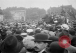 Image of Trade unionists protest high food prices during World War I London England United Kingdom, 1916, second 40 stock footage video 65675042461