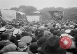Image of Trade unionists protest high food prices during World War I London England United Kingdom, 1916, second 49 stock footage video 65675042461
