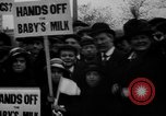 Image of Londoners protesting high food prices and milk shortage London England United Kingdom, 1916, second 1 stock footage video 65675042462