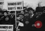 Image of Londoners protesting high food prices and milk shortage London England United Kingdom, 1916, second 2 stock footage video 65675042462