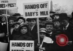 Image of Londoners protesting high food prices and milk shortage London England United Kingdom, 1916, second 6 stock footage video 65675042462