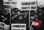 Image of Londoners protesting high food prices and milk shortage London England United Kingdom, 1916, second 8 stock footage video 65675042462