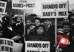 Image of Londoners protesting high food prices and milk shortage London England United Kingdom, 1916, second 9 stock footage video 65675042462