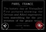 Image of Treaty of Versailles Paris France, 1919, second 1 stock footage video 65675042470