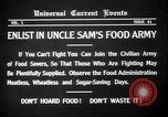 Image of save food campaign United States USA, 1918, second 7 stock footage video 65675042474