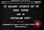 Image of Animated Uncle Sam as Pied Piper United States USA, 1918, second 2 stock footage video 65675042476
