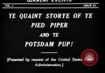 Image of Animated Uncle Sam as Pied Piper United States USA, 1918, second 5 stock footage video 65675042476