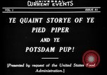 Image of Animated Uncle Sam as Pied Piper United States USA, 1918, second 9 stock footage video 65675042476