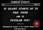 Image of Animated Uncle Sam as Pied Piper United States USA, 1918, second 10 stock footage video 65675042476