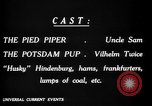 Image of Animated Uncle Sam as Pied Piper United States USA, 1918, second 18 stock footage video 65675042476