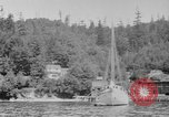 Image of Puget Sound coastline in early 1900s Tacoma Washington USA, 1917, second 12 stock footage video 65675042499