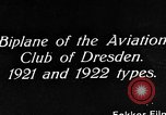 Image of Bavarian Club biplane Germany, 1922, second 2 stock footage video 65675042527