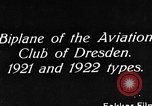 Image of Bavarian Club biplane Germany, 1922, second 3 stock footage video 65675042527
