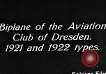 Image of Bavarian Club biplane Germany, 1922, second 5 stock footage video 65675042527