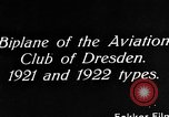 Image of Bavarian Club biplane Germany, 1922, second 6 stock footage video 65675042527