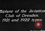 Image of Bavarian Club biplane Germany, 1922, second 8 stock footage video 65675042527
