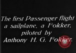Image of Fokker biplane Germany, 1922, second 2 stock footage video 65675042534