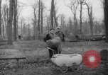 Image of Germans cutting trees for fuel in Berlin after World War 2 Berlin Germany, 1945, second 29 stock footage video 65675042630
