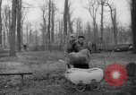 Image of Germans cutting trees for fuel in Berlin after World War 2 Berlin Germany, 1945, second 30 stock footage video 65675042630