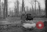 Image of Germans cutting trees for fuel in Berlin after World War 2 Berlin Germany, 1945, second 32 stock footage video 65675042630