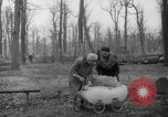 Image of Germans cutting trees for fuel in Berlin after World War 2 Berlin Germany, 1945, second 34 stock footage video 65675042630