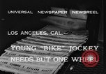 Image of unicycle Los Angeles California USA, 1933, second 7 stock footage video 65675042743