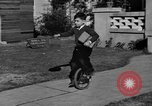 Image of unicycle Los Angeles California USA, 1933, second 16 stock footage video 65675042743