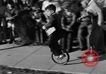 Image of unicycle Los Angeles California USA, 1933, second 29 stock footage video 65675042743