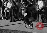 Image of unicycle Los Angeles California USA, 1933, second 30 stock footage video 65675042743