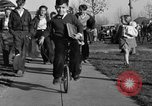 Image of unicycle Los Angeles California USA, 1933, second 34 stock footage video 65675042743