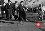 Image of unicycle Los Angeles California USA, 1933, second 37 stock footage video 65675042743