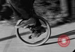 Image of unicycle Los Angeles California USA, 1933, second 46 stock footage video 65675042743