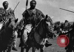 Image of Emperor Haile Selassie I preparing for Italian invasion Addis Ababa Abyssinia, 1935, second 34 stock footage video 65675042760