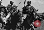 Image of Emperor Haile Selassie I preparing for Italian invasion Addis Ababa Abyssinia, 1935, second 35 stock footage video 65675042760