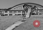 Image of ice covered slide Venice Beach Los Angeles California USA, 1938, second 16 stock footage video 65675042786