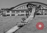 Image of ice covered slide Venice Beach Los Angeles California USA, 1938, second 17 stock footage video 65675042786
