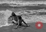 Image of ice covered slide Venice Beach Los Angeles California USA, 1938, second 28 stock footage video 65675042786